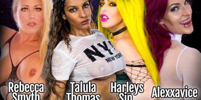 Halloween Gangbang with Rebecca Smyth, Talula Thomas, Harleys Sin and Alexxavice