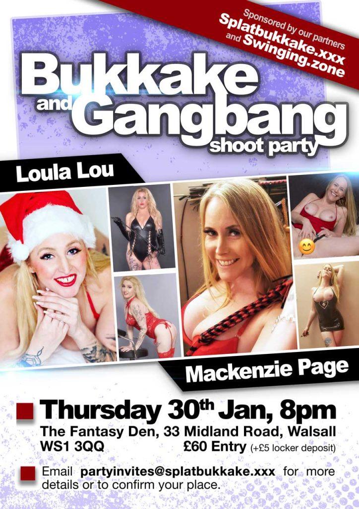 Splatbukkake bukkake and gangbang Jan 30th with Loula Lou and Mackenzie Page