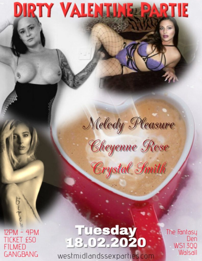 Dirty Valentine Partie, 18th February, Fantasy Den Walsall